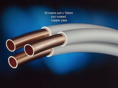 10 Metre Coil 10Mm Pvc Copper Coated Tube/pipesuitible Gas/water/oil/heating