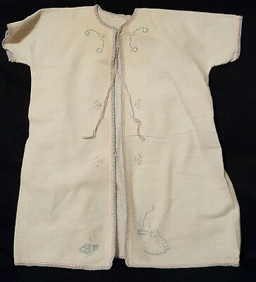 Vintage Baby Robe Gown Embroidered