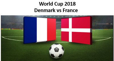 2 x Tickets World Cup 2018 Denmark vs France  Cat 3 (Price is for 2 Tickets)