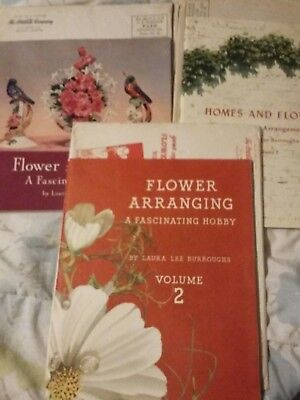 3 Coca Cola Flower booklets by Laura Burroughs