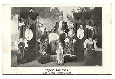 BRICE BOLTON.LE MORE LARGE VENTRILOQUIST OF THE WORLD,CIRQUE.CIRCUS.phenomene of