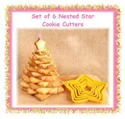 Nested star cookie cutter set - make your own cookie Christmas tree -