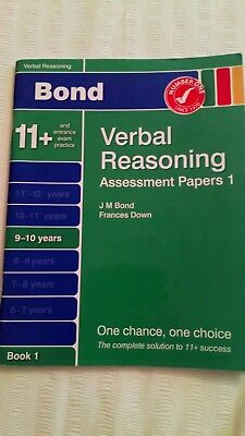 Bond 11+ Plus Verbal Reasoning Assessment Papers Book 1 9-10