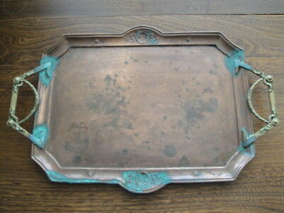 Carl Deffner Art Nouveau Copper & Brass Tray