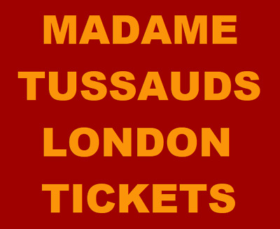 6 Madame Tussauds London Tickets Valid 8/11/17-31/03/18, Book Online RRP £210