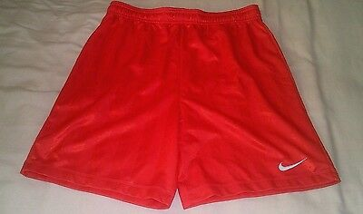 """Nike Red/White Football Gym Shorts *28/30"""" Waist* Teamwear *Excellent Condition*"""