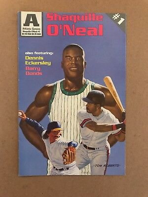 SHAQUILLE O'NEAL COMIC BOOK #1 w/ BARRY BONDS DENNIS ECKERSLEY APRIL 1993