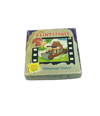 "The Flintstones 8mm Film ""Flintstones Frolics"" 1960's Home Movie"
