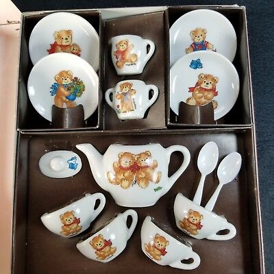 Lucy and Me Lucy Rigg 12 Piece Porcelain Tea Set in Original Box Vintage 1979