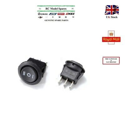 3 Pin Boat Rocker Switch Black Round SPDT 6A-10A 110-250V ON/OFF/ON Push Button