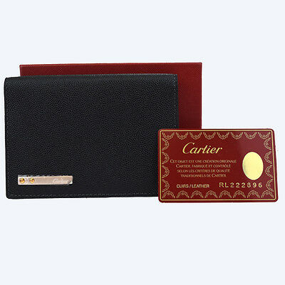 Authentic CARTIER Santos Notebook Cover Day Planner Leather Black Spain 60W964