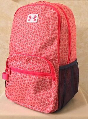 Youth Girls Under Armour Great Escape Storm Backpack Water Resistant Crimson