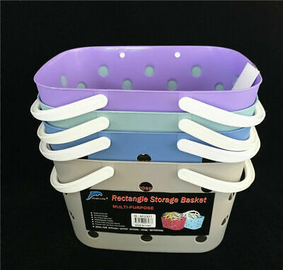 Household Plastic Portable Storage basket Organizer Basket with handles