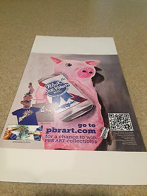 Pabst Blue Ribbon Beer New Ad Print for Framing or Game room (Two Ads)