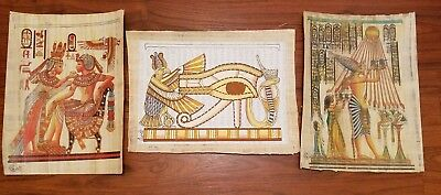Eye of Ra | Ancient Egyptian Papyrus Paintings --IMPORTED FROM EGYPT-- Lot C128