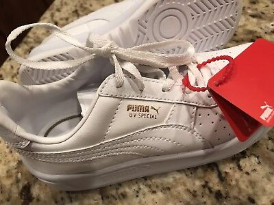 NEW Kids Boys/Girls PUMA V6 Special White Leather, Classic US 13.5