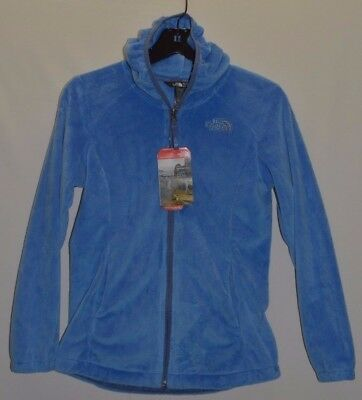 The North Face Girl's Youth Oso 2 Hoodie Fleece Jacket  M 10 12 Blue New