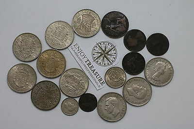 Uk Gb Coin Lot With Scarce Dates & Conditions A69 T22