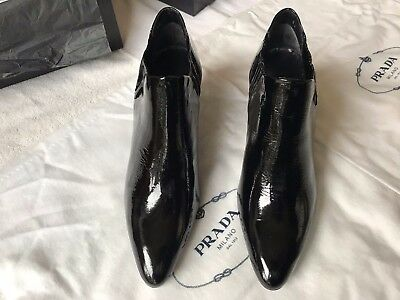 Prada Pointed Heel Booties in Black - Brand New in Box -  Size 6 US