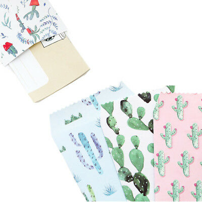 5pcs/lot Cactus Pattern Paper Envelopes Letter Greeting Card Storage Bag Cute