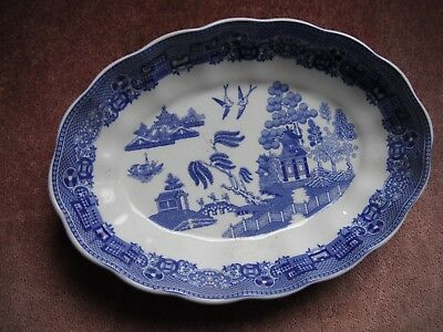 Spode Willow Dish Made in England (approx. 15cm X 10.5cm)