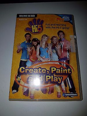 Hi-5 Create, Paint and Play WIN/MAC educational CD ROM Ages 3+