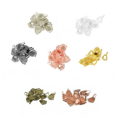 12pcs French Lever Back Earring Blanks Base Brass Cabochon Settings Crafts