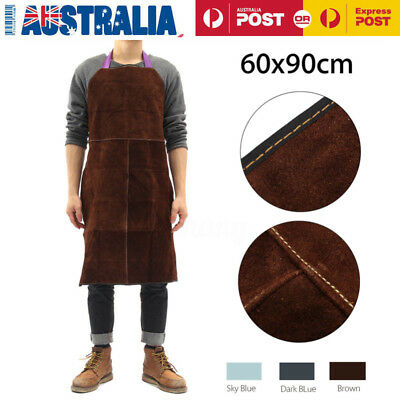 Welding Apron Welder Heat Insulation Cow Leather Protection Equipments Tool AU