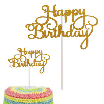 New Happy Birthday Cake Topper First Birthday Cupcake Topper Party Handmade Tool