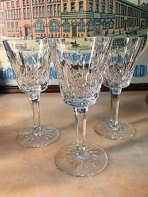 Set of 3 Quality Irish Waterford Crystal Small Wine or Sherry Glasses