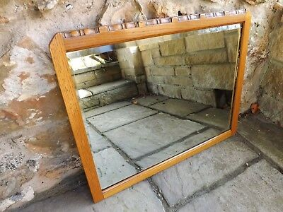 Vintage oak framed wall mirror / overmantle. UK DELIVERY INCLUDED IN PRICE.