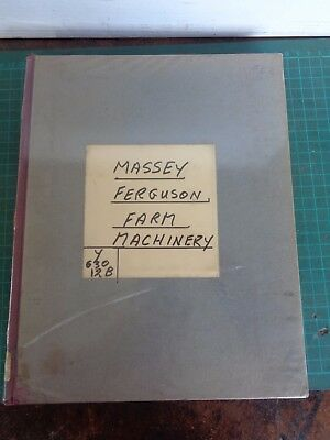 Vintage farming MASSEY FERGUSON collected and bound manuals x7  C1962