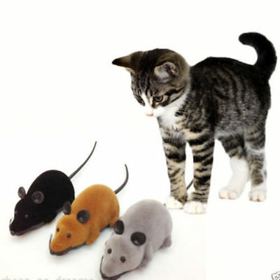 Wireless Remote Control RC Electronic Rat Mouse Mice Toy For Cat Puppy Gift KUDR