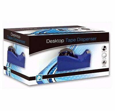 Tape Dispenser Desktop Office Sellotape Heavy Duty Sticky Cellotape Pack Holder