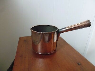 Vintage Small Handled Copper Cooking Pot With Pouring Spout