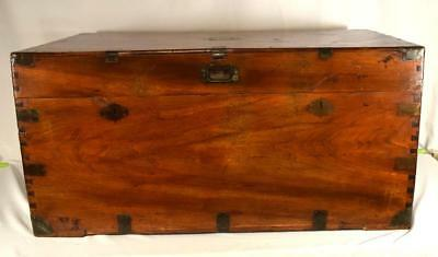 LARGE 19TH C CHINESE EXPORT FURNITURE CAMPHORWOOD CHEST: Lot 10