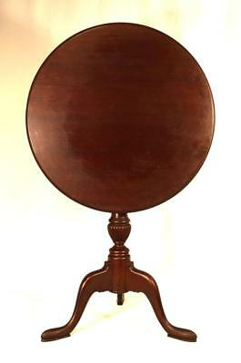 SIGNED A.H. DAVENPORT/IRVING & CASSON MAHOGANY TILT TOP TABLE: Lot 156