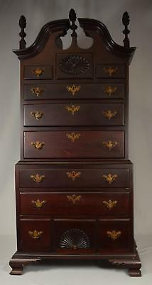 RARE CONNECTICUT MINIATURE CONNECTICUT CHIPPENDALE CHEST ON CHEST: Lot 40