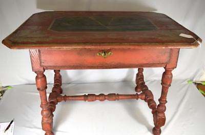 ANTIQUE FAUX PAINTED FRENCH COUNTRY FARM TABLE: Lot 135