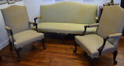 THREE PIECE CHIPPENDALE STYLE PARLOR SET: Lot 73