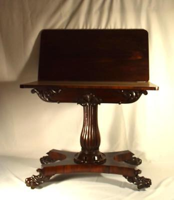 19TH C ENGLISH FURNITURE ROSEWOOD CARVED CARD TABLE: Lot 9