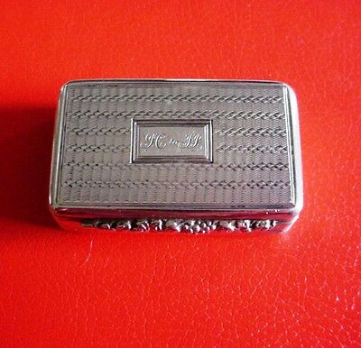 Antique English Silver Snuff Box .1835 Thomas Shaw. Birmingham