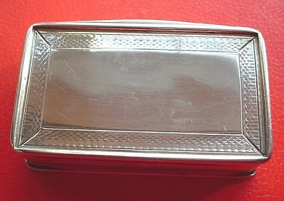 Antique English Silver Snuff Box .1839 Frances Clark. Birmingham