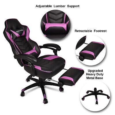 Office Racing Gaming Chair Swivel Recliner Computer Desk Seat Leather Ergonomic