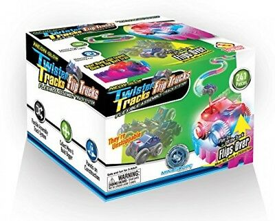 Mindscope Neon Glow in the Dark Twister Tracks Trax FLIP TRUCKS Flexible