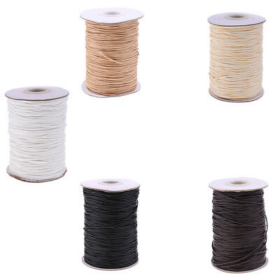 165 Meters/82 Meters Waxed Cotton Cord String for DIY Necklace Bracelet 1mm/2mm