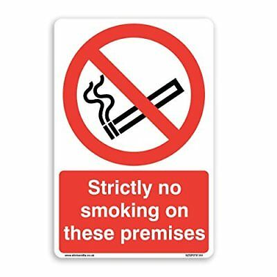 Strictly No Smoking On These Premises Sign - [A5 150mm x 200mm] Self Adhesive...