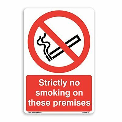 Strictly No Smoking On These Premises Sign - [A4 200mm x 300mm] Self Adhesive...