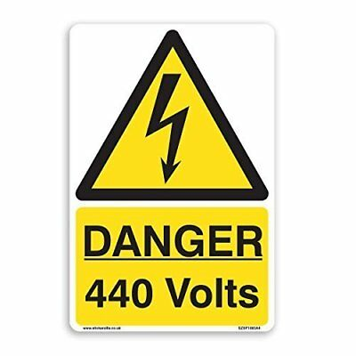 DANGER 440 Volts Warning Sign - [A5 150mm x 200mm] Self Adhesive Sticker
