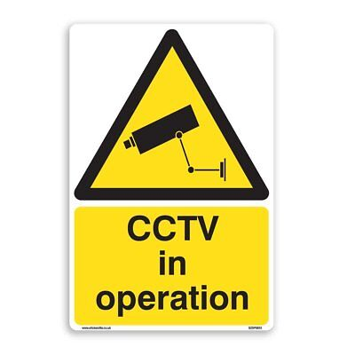 CCTV in Operation Sign - 5 Pack [A5 150mm x 200mm] Self Adhesive Stickers